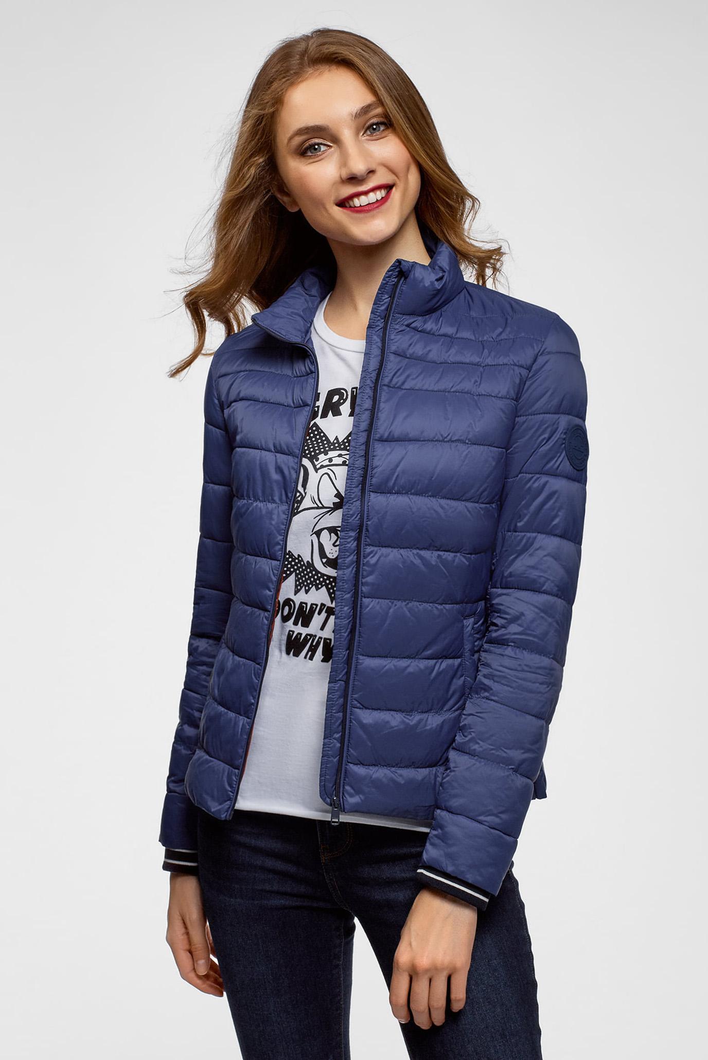 1ae14852c3e Купить Женская синяя куртка Oodji Oodji 10204056 47172 7800N – Киев ...