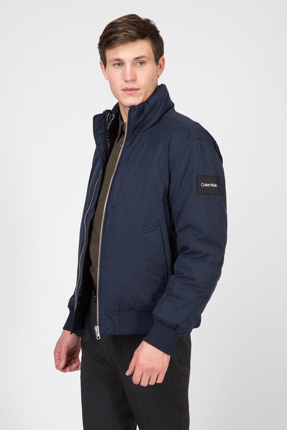 Мужская синяя куртка FUNNEL NECK WADDED