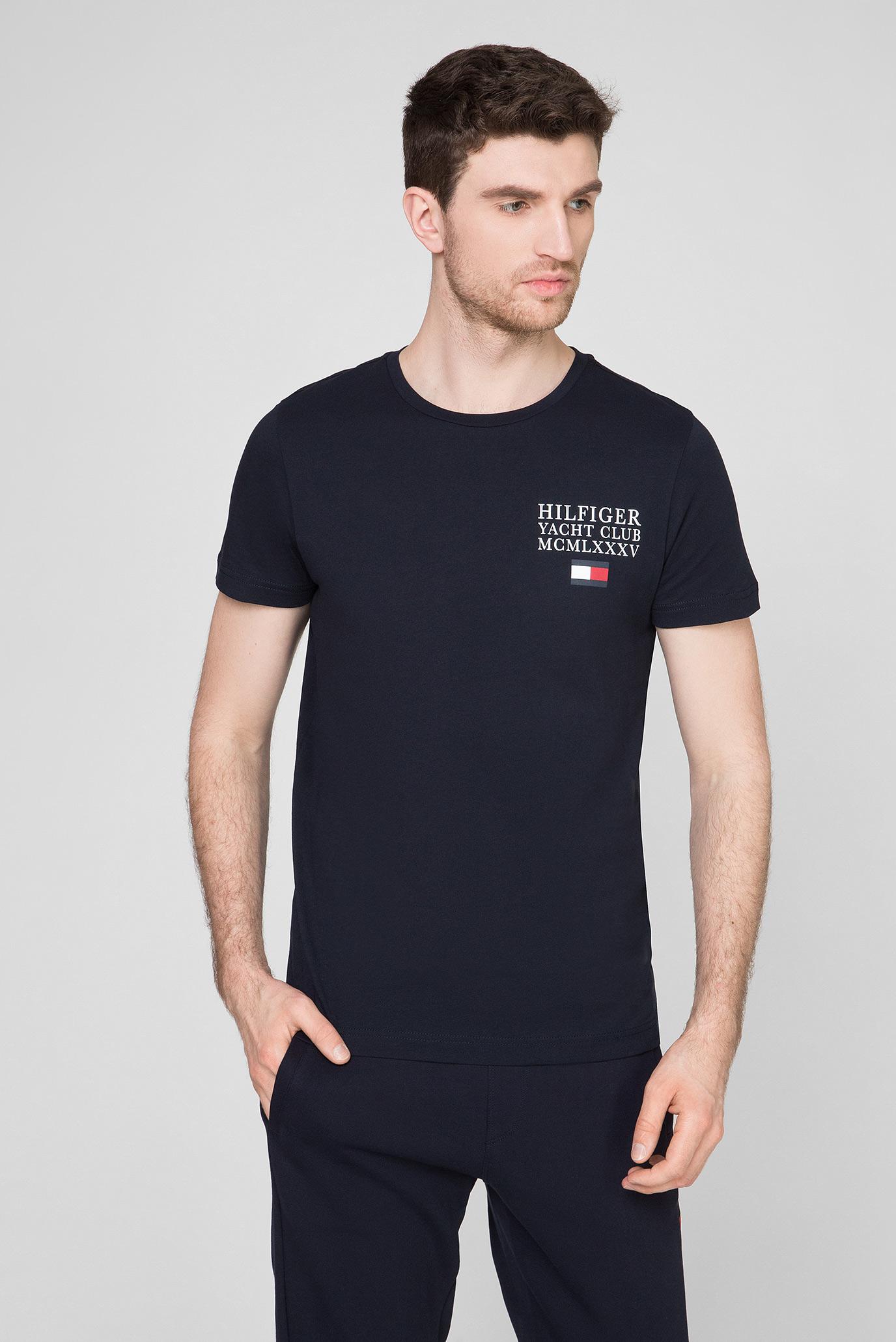 Мужская темно-синяя футболка YACHT CLUB 1