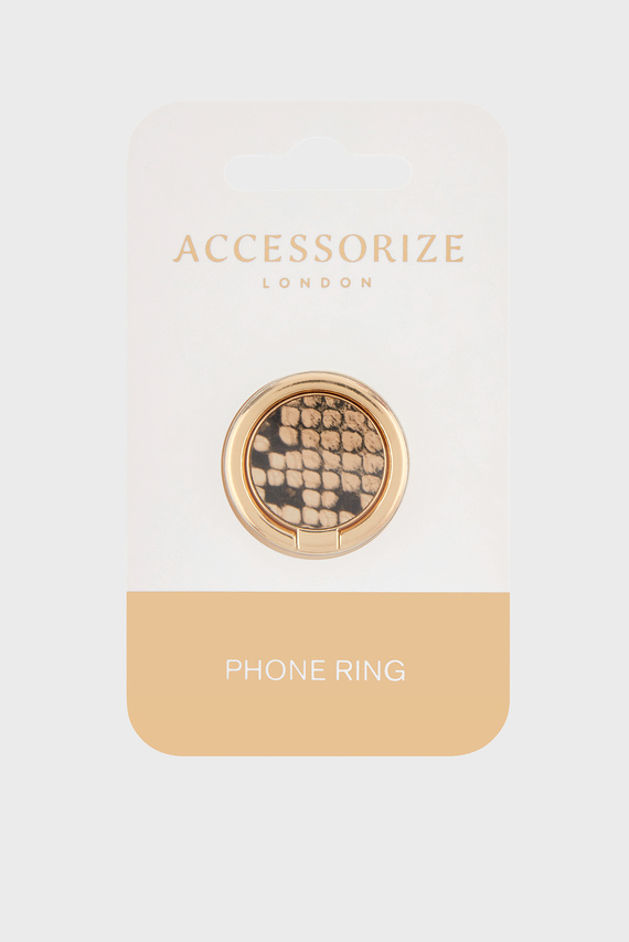 Золотистое кольцо для телефона Snake Print PU Phone