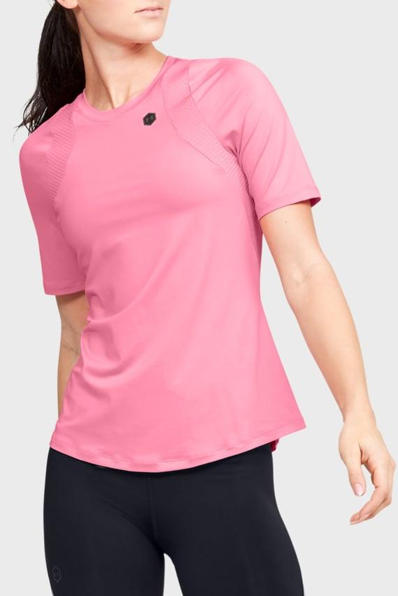 Женская розовая спортивная футболка UA Rush SS