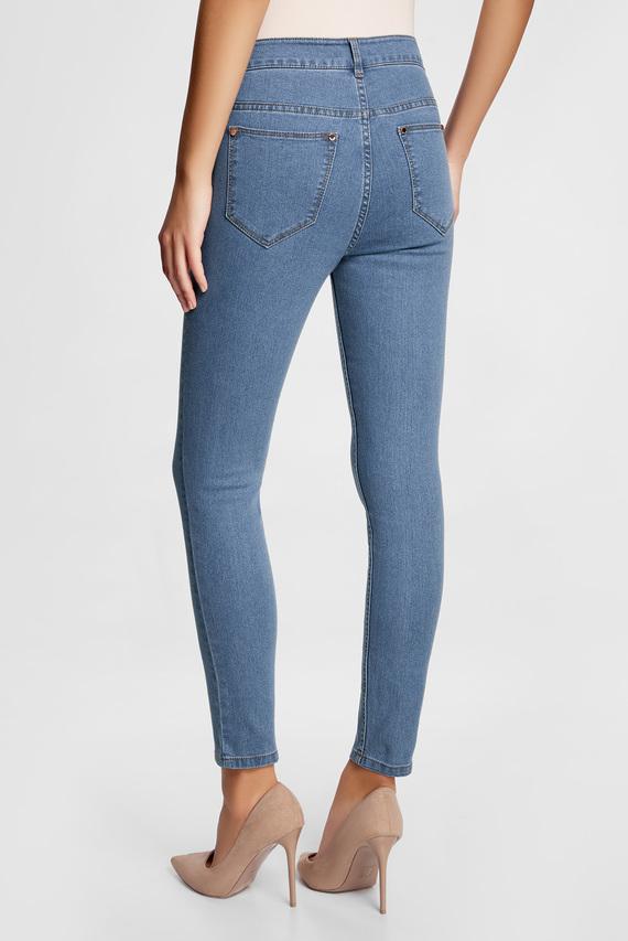 Женские голубые джинсы slim