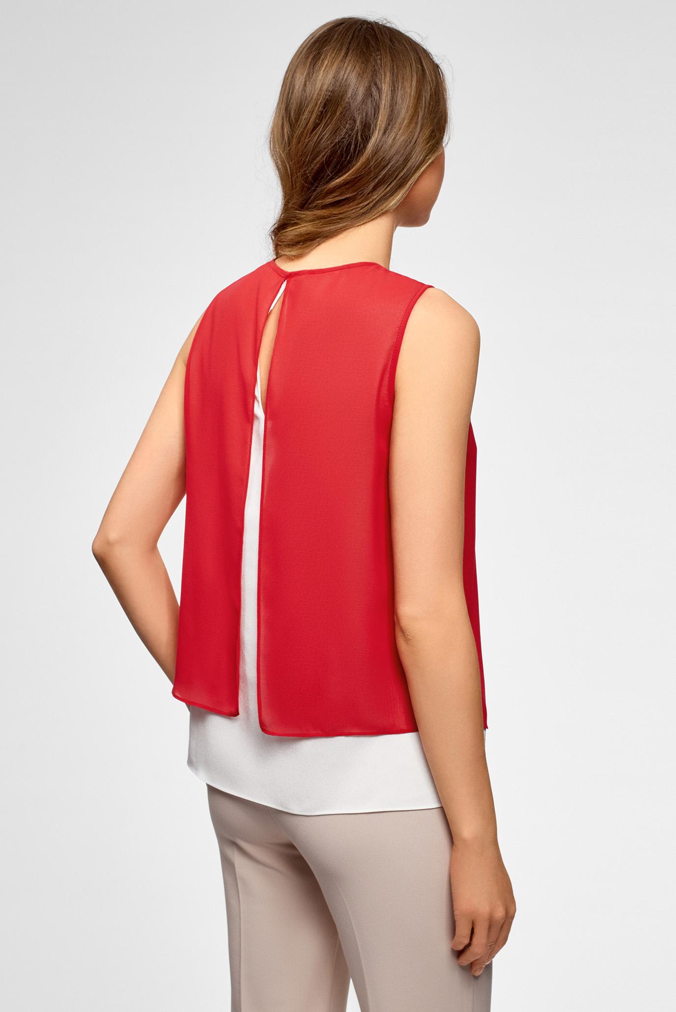 Купить Женская красная блуза Oodji Oodji 14901418/26546/124DB – Киев, Украина. Цены в интернет магазине MD Fashion