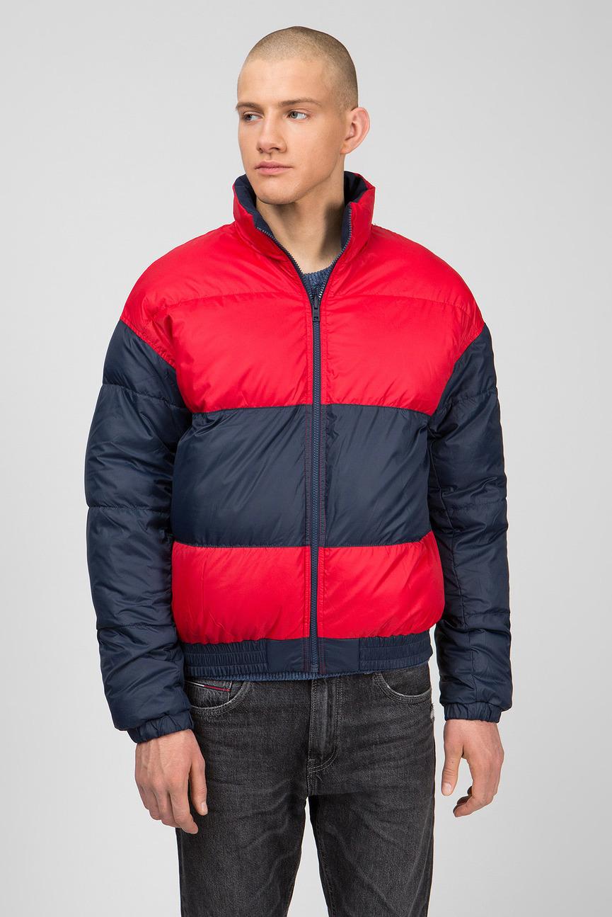 Мужская синяя двусторонняя куртка