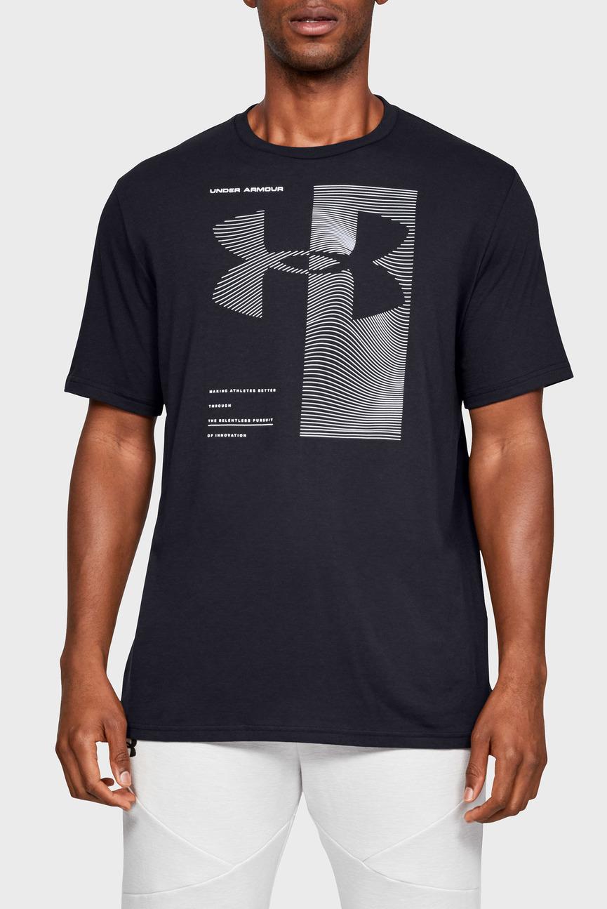 Мужская черная футболка UA TWO TONE