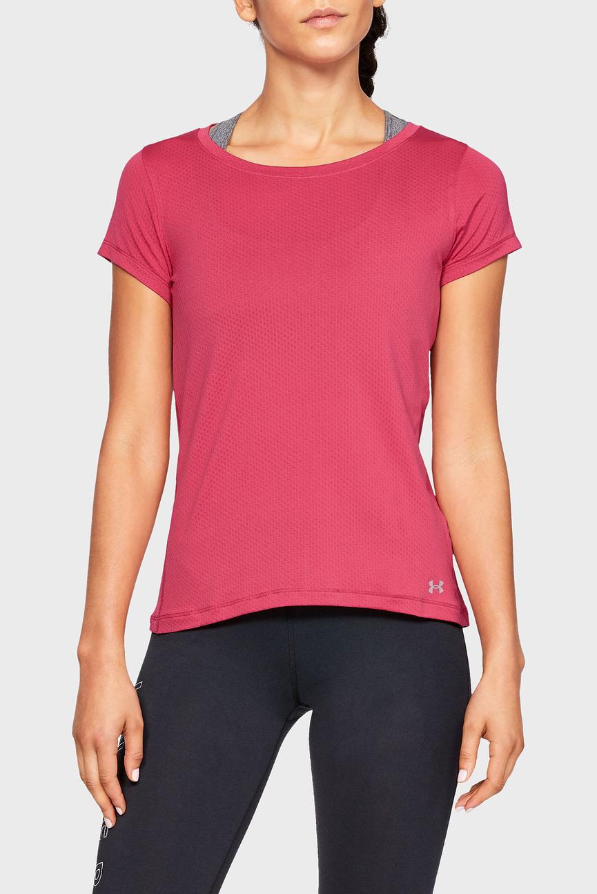 Женская розовая футболка UA HG Armour