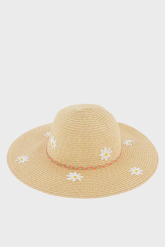 Детская бежевая шляпа DAISY LUREX FLOPPY