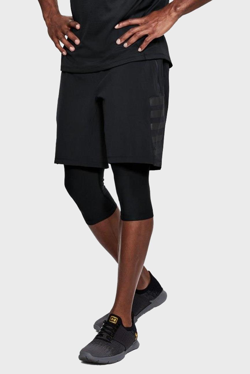 Мужские черные шорты SPEEDPOCKET LONG 2-N-1 SHORT