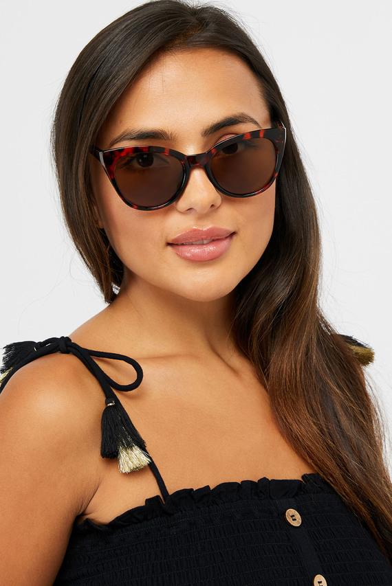 Женские коричневые очки AVA CLASSIC CATEYE