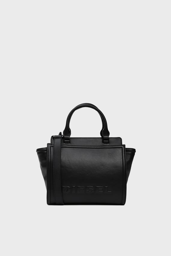 Женская черная кожаная сумка на плечо KUB8 / BADIA