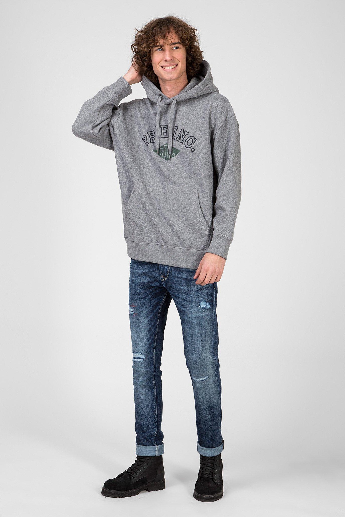 Мужское серое худи LIONEL Pepe Jeans