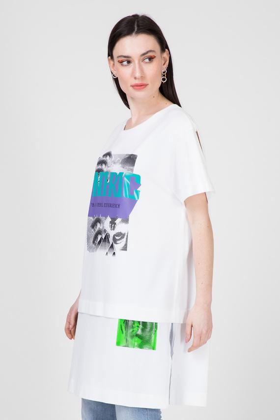 Женская белая футболка T-SHALIE