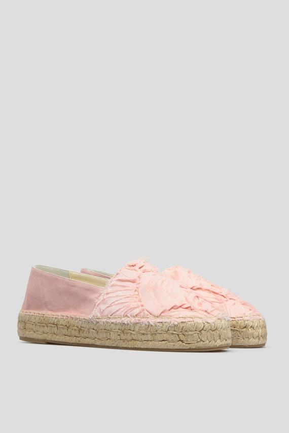 Женские розовые эспадрильи