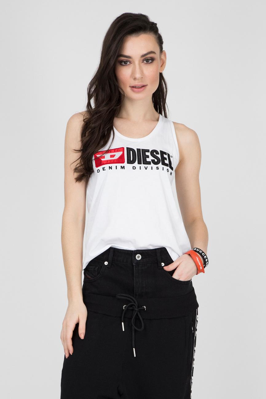 1b4dddef258 Купить Женская белая удлиненная майка T-DESY-C Diesel Diesel 00SSKA ...