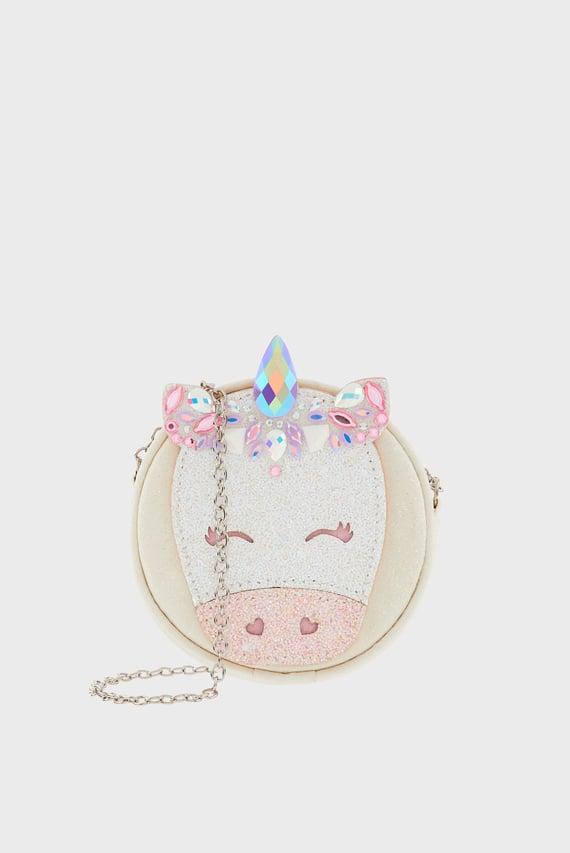Детская белая сумка Bejeweled Unicorn
