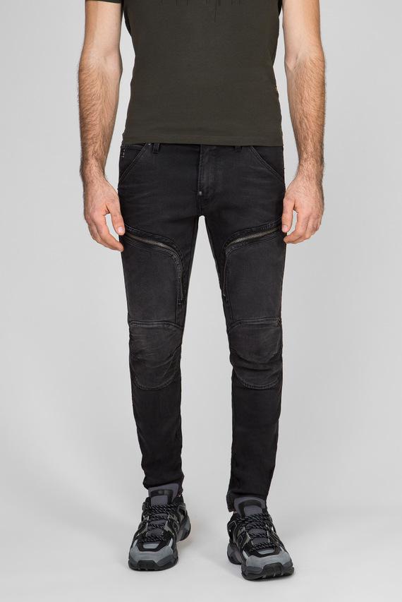 Мужские темно-серые джинсы Air defence zip skinny