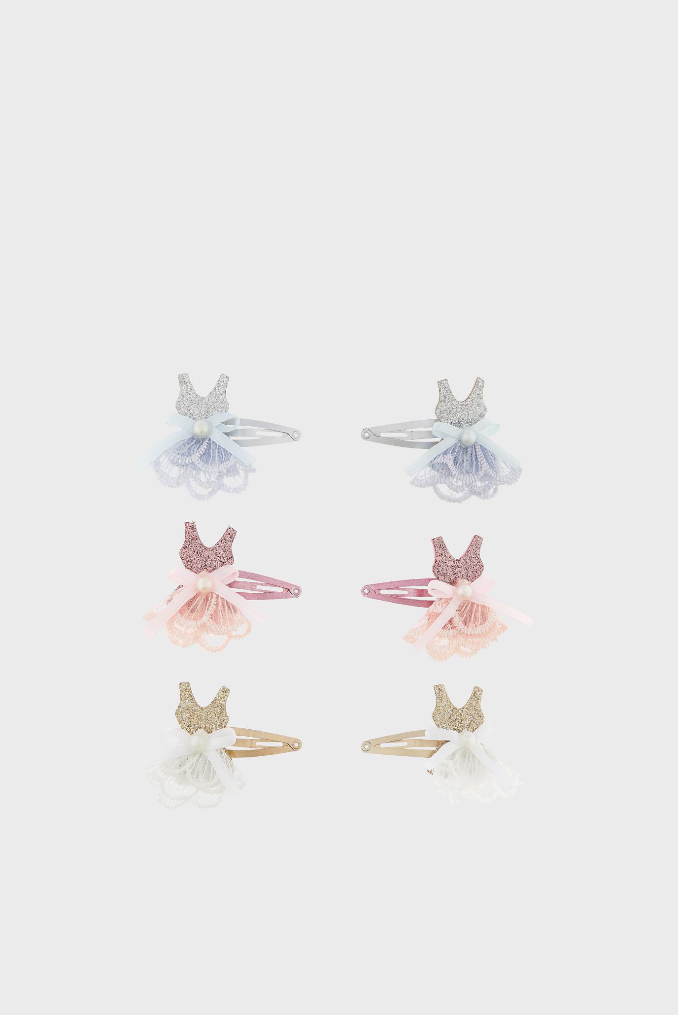 Купить Набор детских заколок (6 шт) Lacey Ballerina Monsoon Children Monsoon Children 610154 – Киев, Украина. Цены в интернет магазине MD Fashion