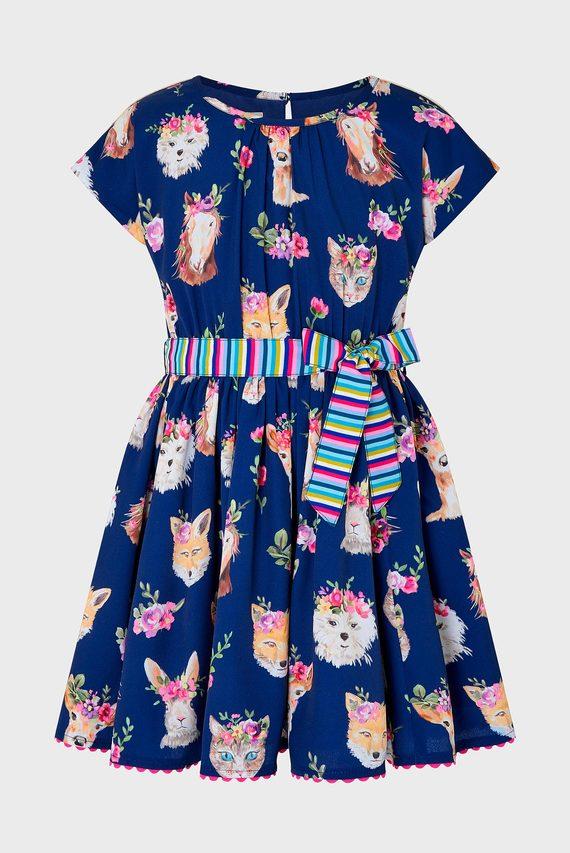 Детское синее платье S.E.W Monika Dress