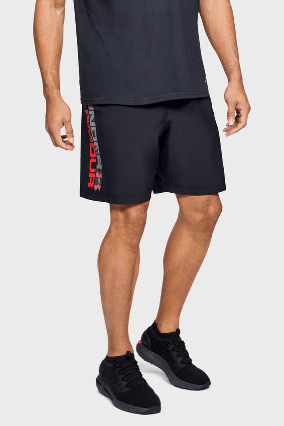 Мужские черные шорты Woven Graphic Wordmark Shorts-BLK