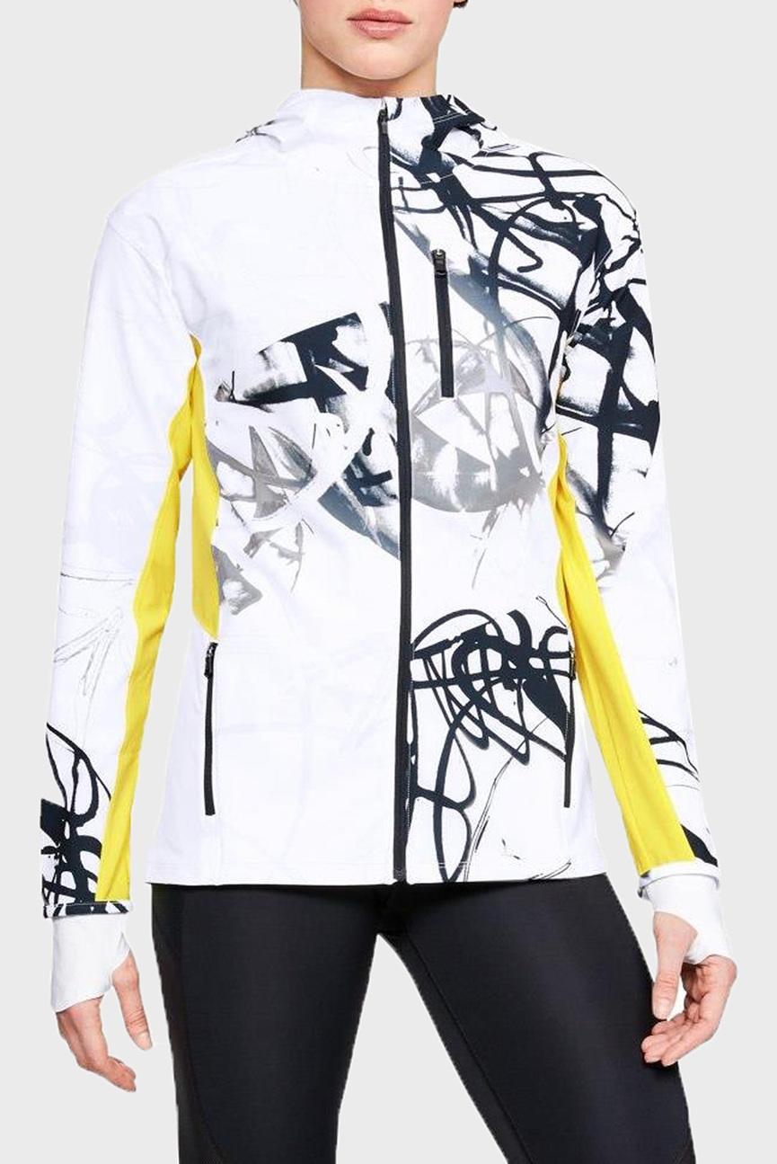 Женская белая куртка с принтом Outrun The Storm Printed Jkt