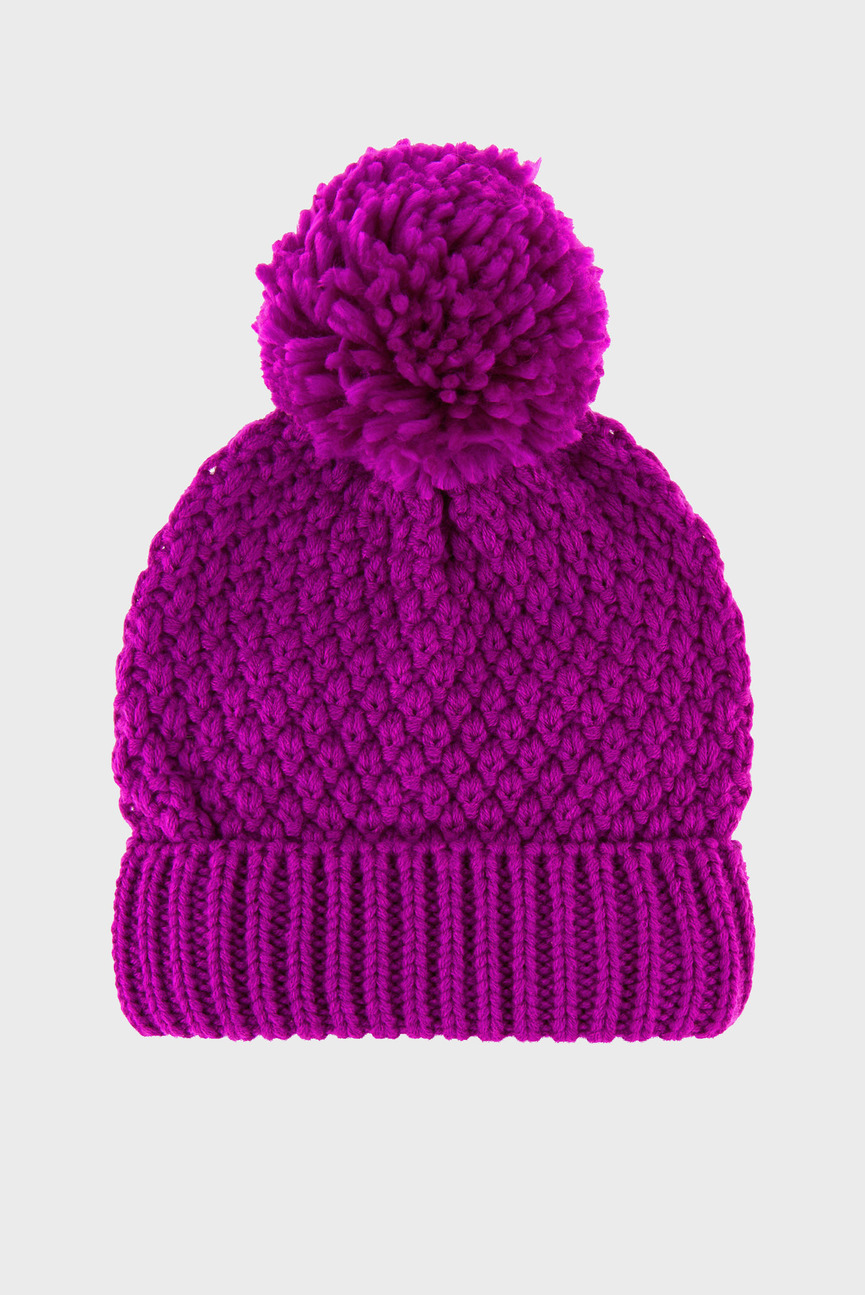 Женская розовая шапка OPP POM