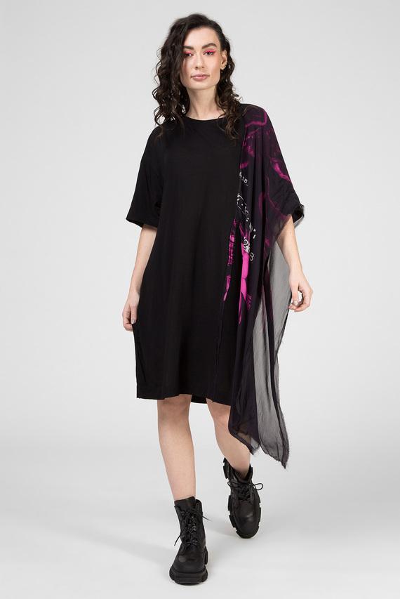 Женское черное платье T-STEFANIA