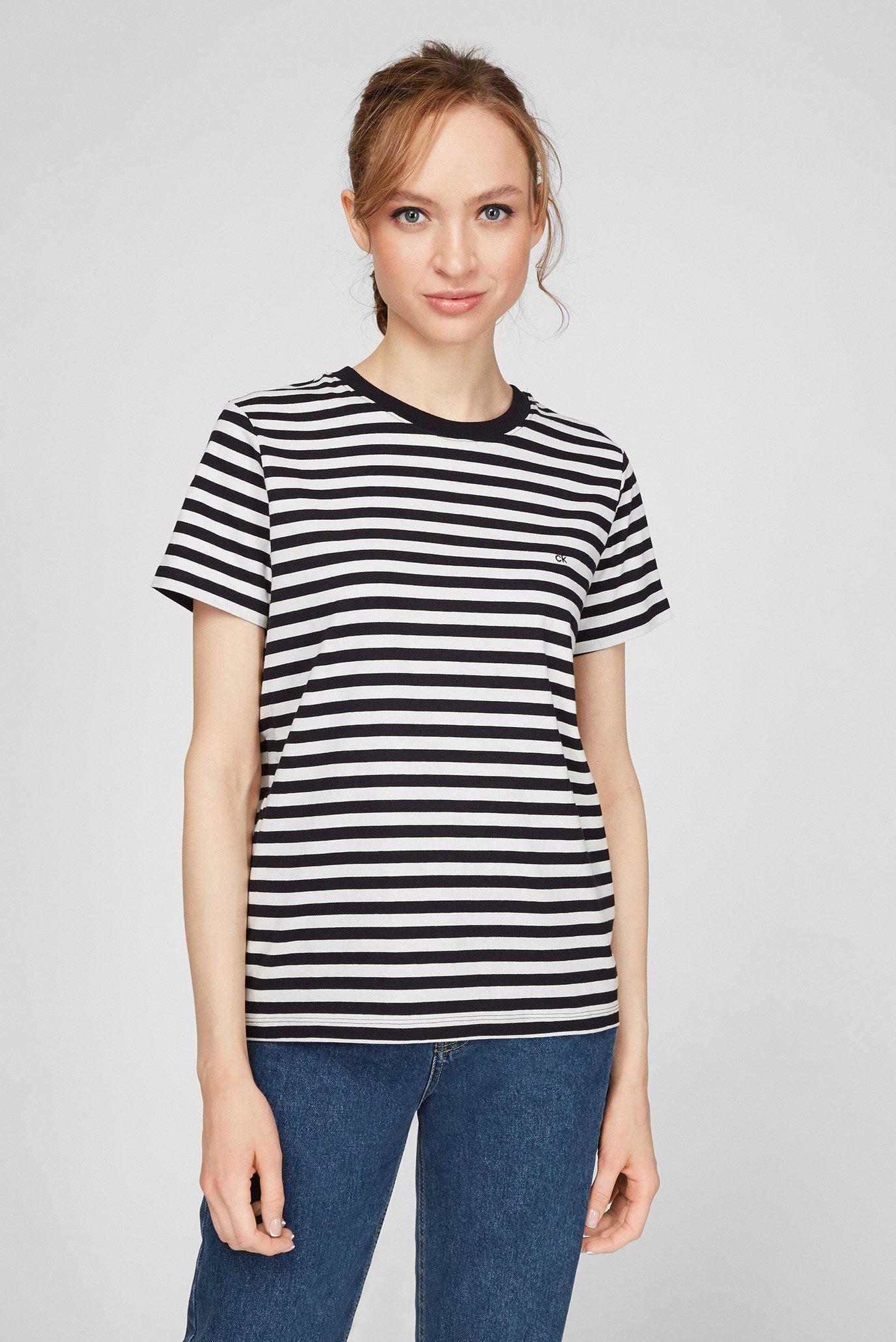 Женская футболка в полоску 1