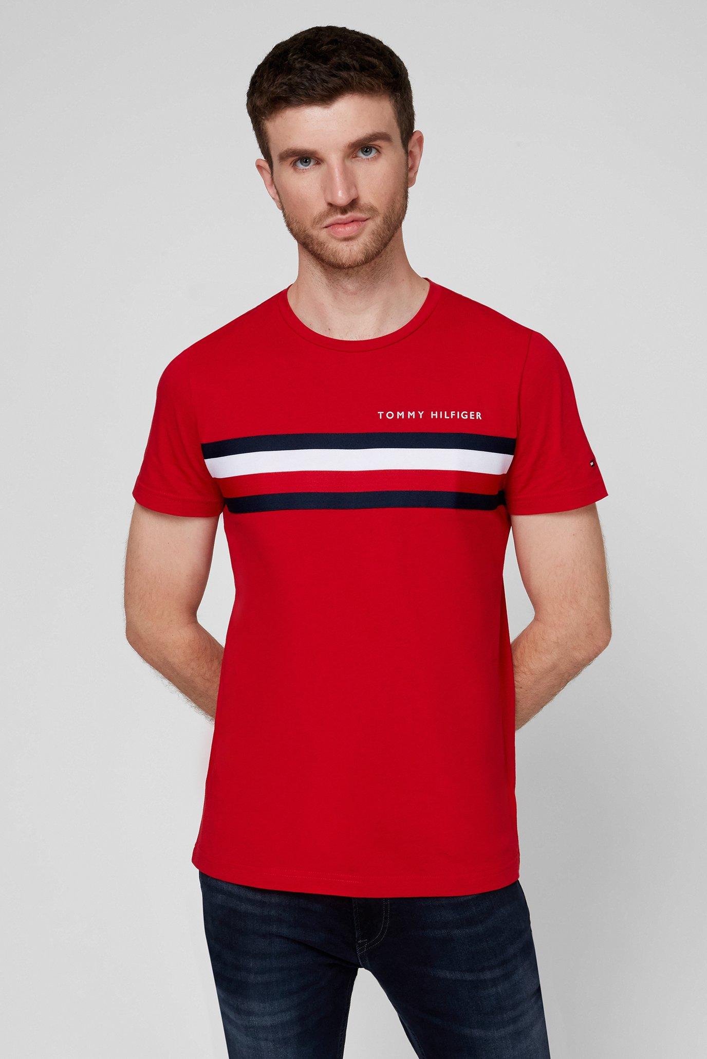 Чоловіча червона футболка GLOBAL 1
