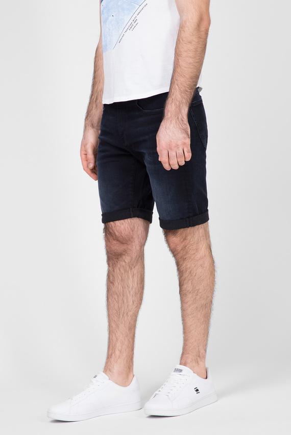 Мужские темно-синие джинсовые шорты 3301 Slim
