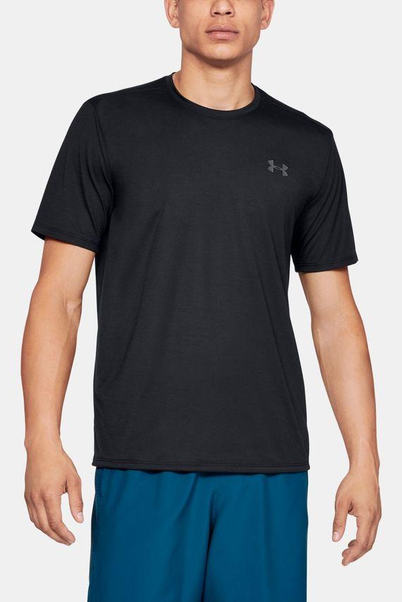 Мужская черная футболка UA Threadborne SS