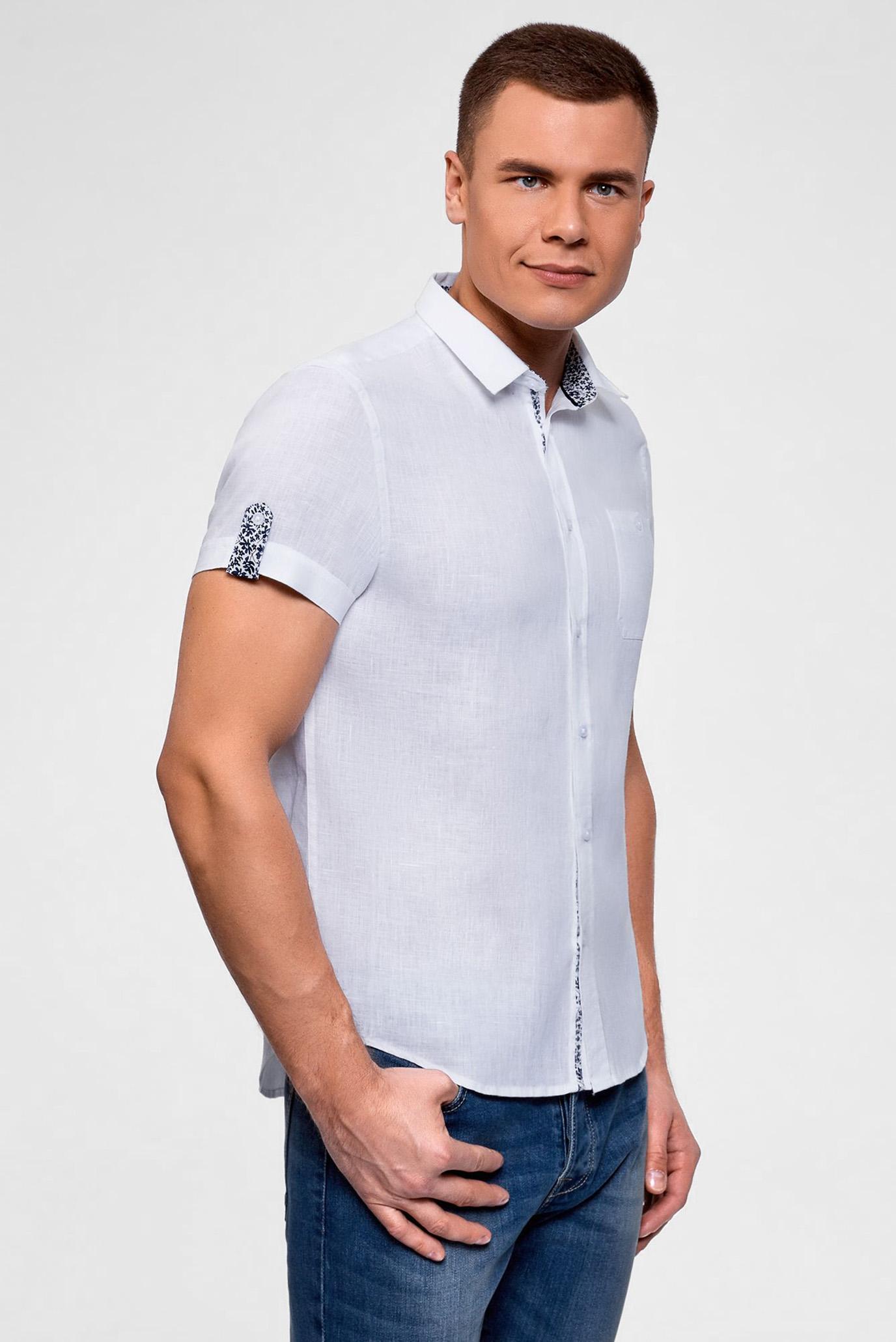Мужская белая рубашка Oodji