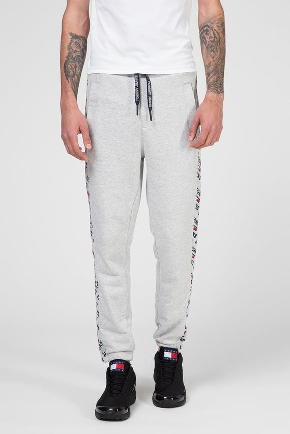 Мужские серые спортивные брюки TJM CORP LOGO PRINT