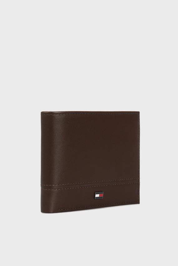 Мужской коричневый кожаный кошелек TH ESSENTIAL MINI CC