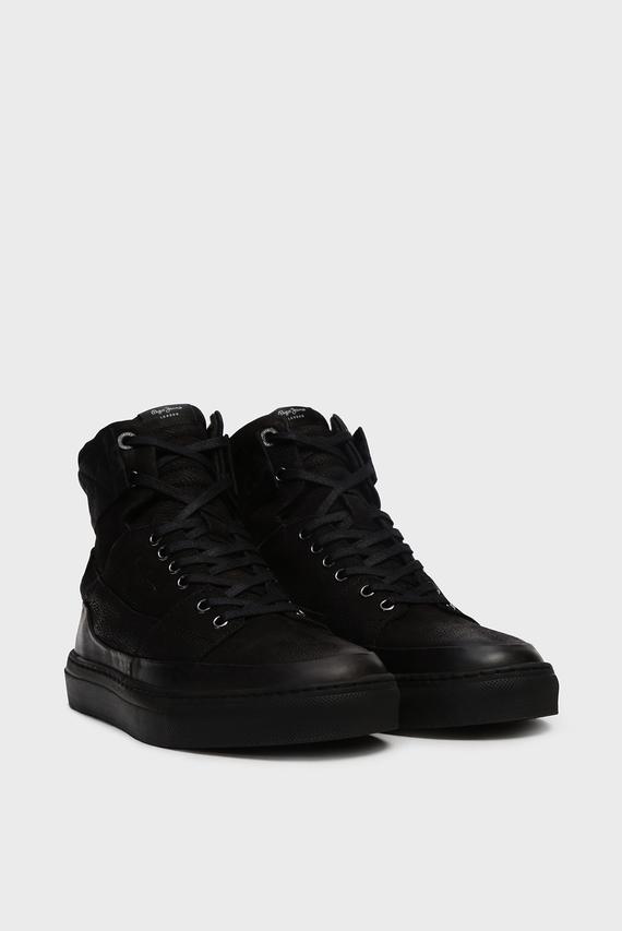 Мужские черные кожаные ботинки MLT BOOT