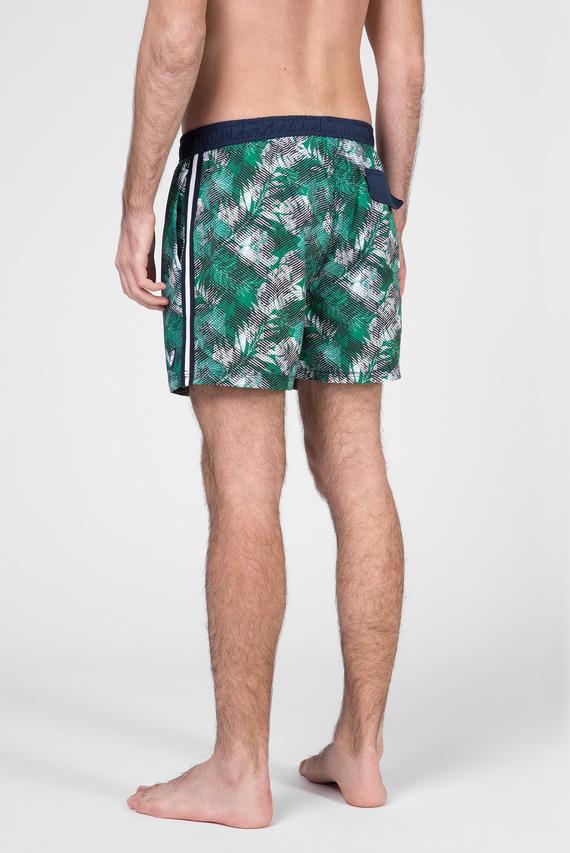 Мужские зеленые плавательные шорты с принтом