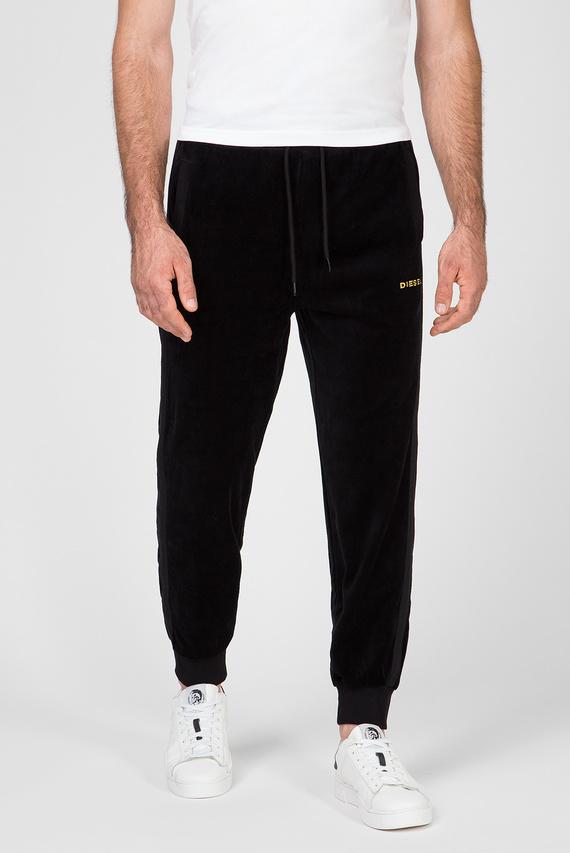 Мужские черные бархатные спортивные брюки UMLB-DARREN-CH