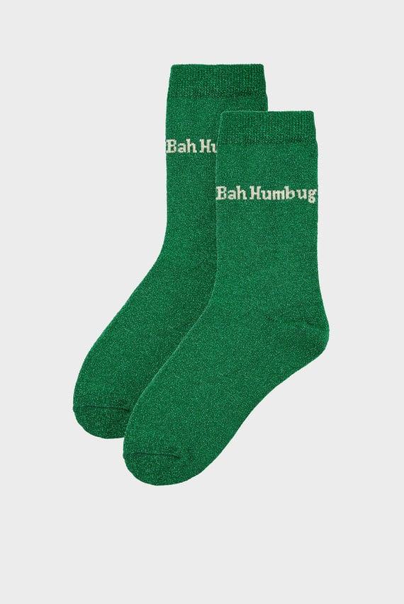 Женские зеленые носки CHRISTMAS SPARKLE