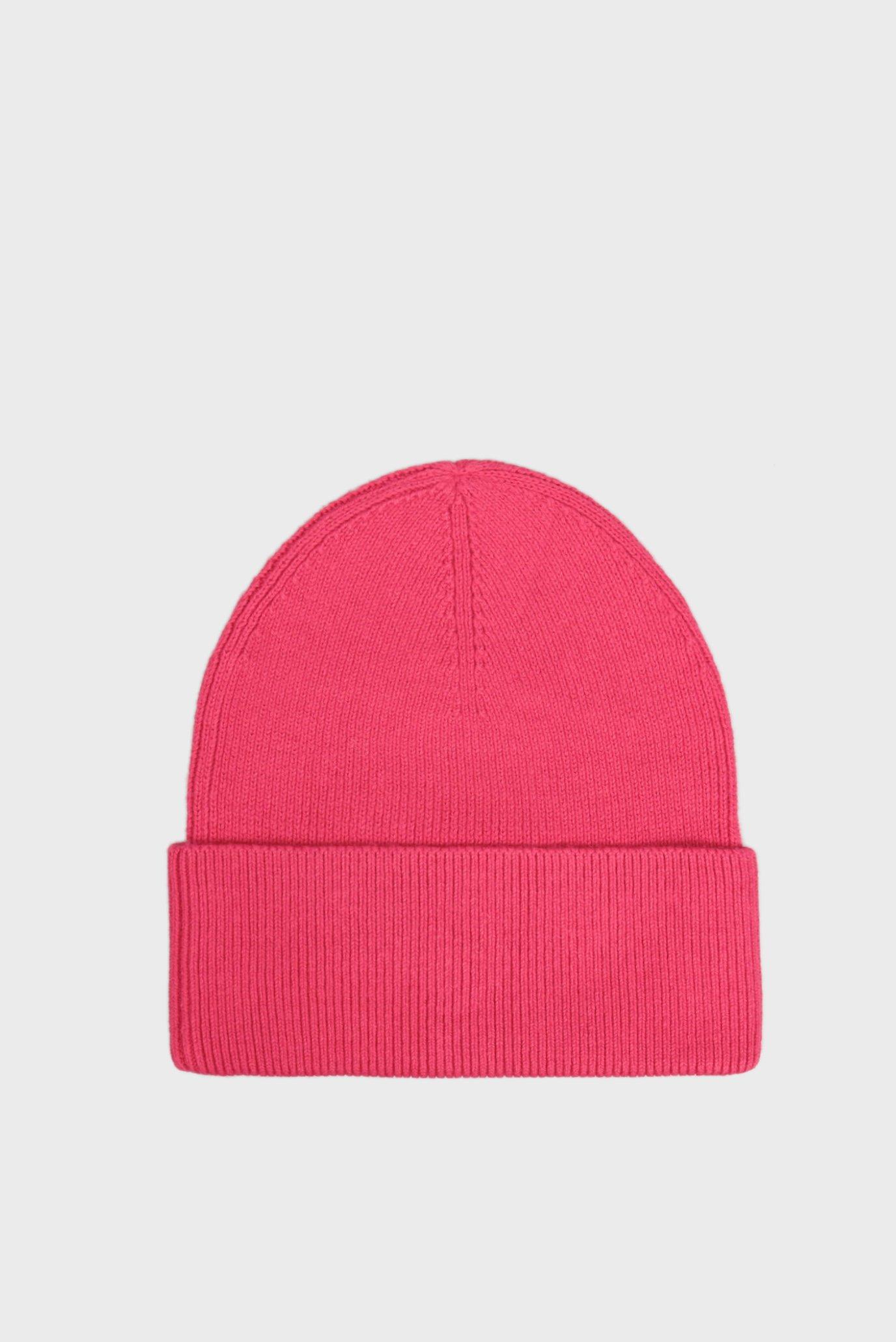 Женская розовая шапка ESSENTIAL KNIT Tommy Hilfiger