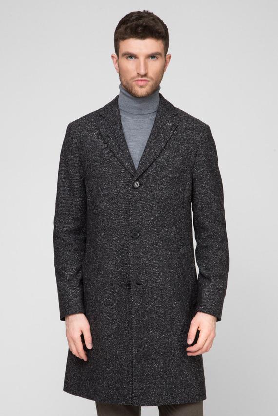 Мужское темно-серое пальто WOOL BLEND SPECKLE CROMBY
