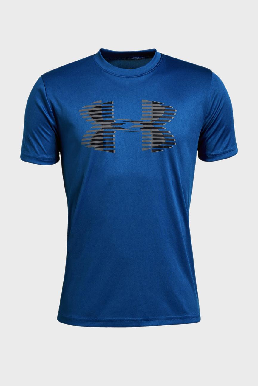 Детская синяя футболка Tech Big Logo Solid Tee