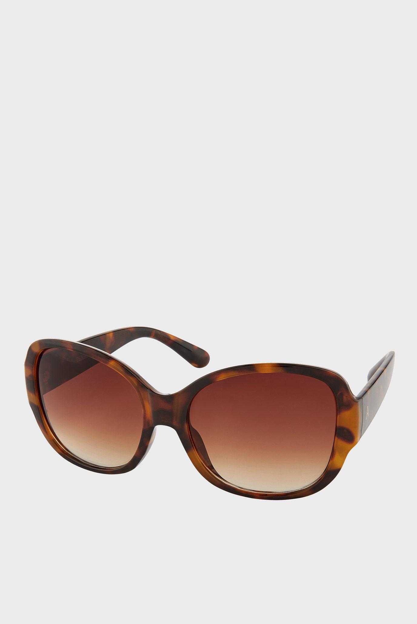 Коричневі сонцезахисні окуляри SAVANNAH GLAM SQUARE 1