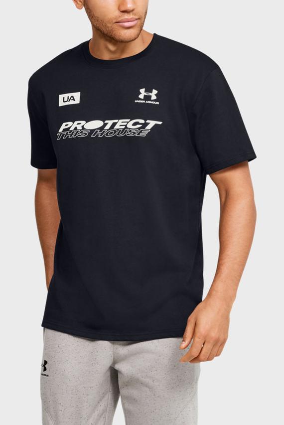 Мужская черная футболка UA PTH BACK SS
