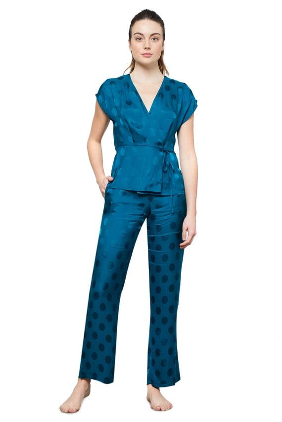 Женская синяя рубашка VEIRA