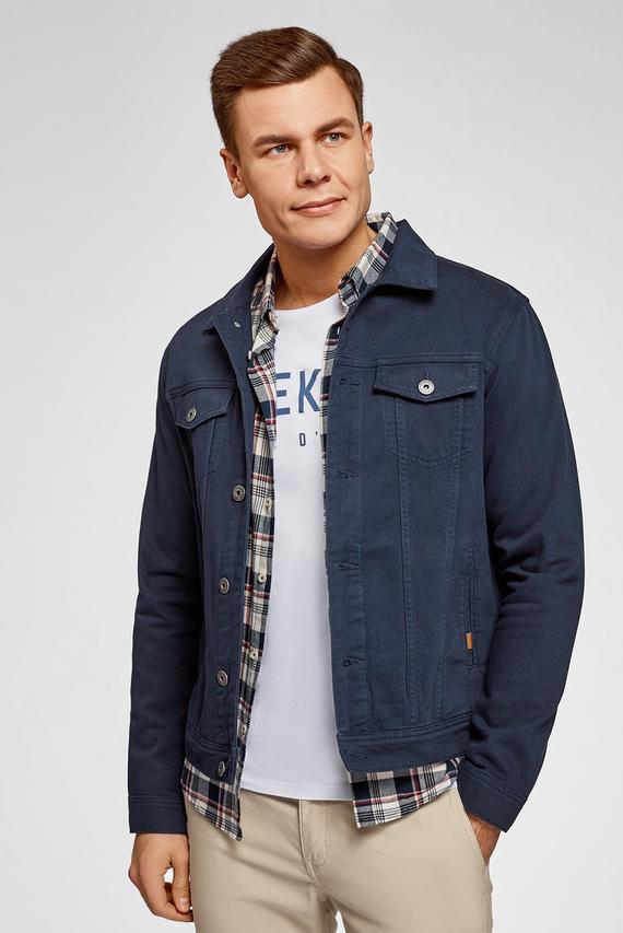 Мужская синяя джинсовая куртка