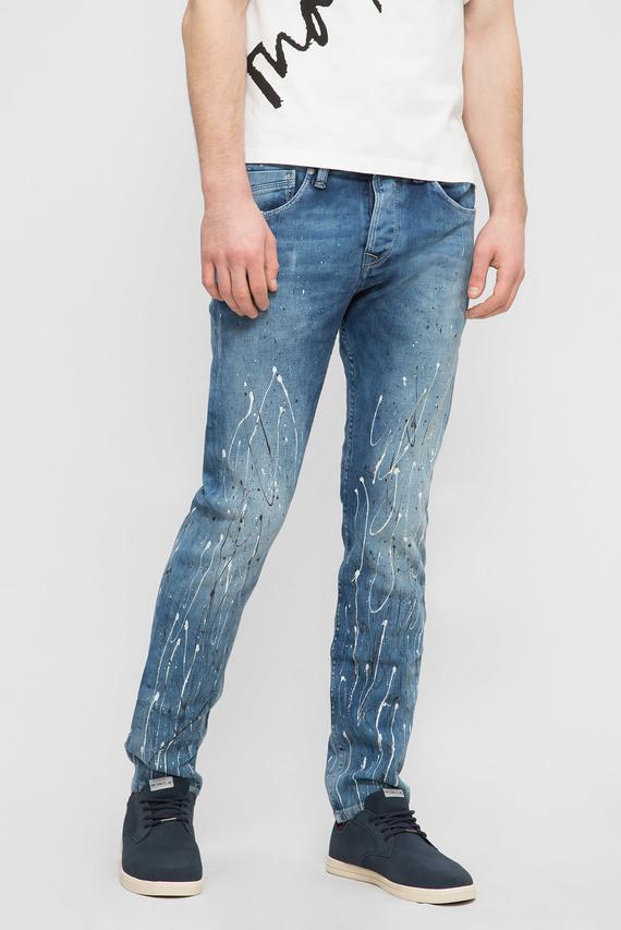 Мужские синие джинсы ZINC SPLASH