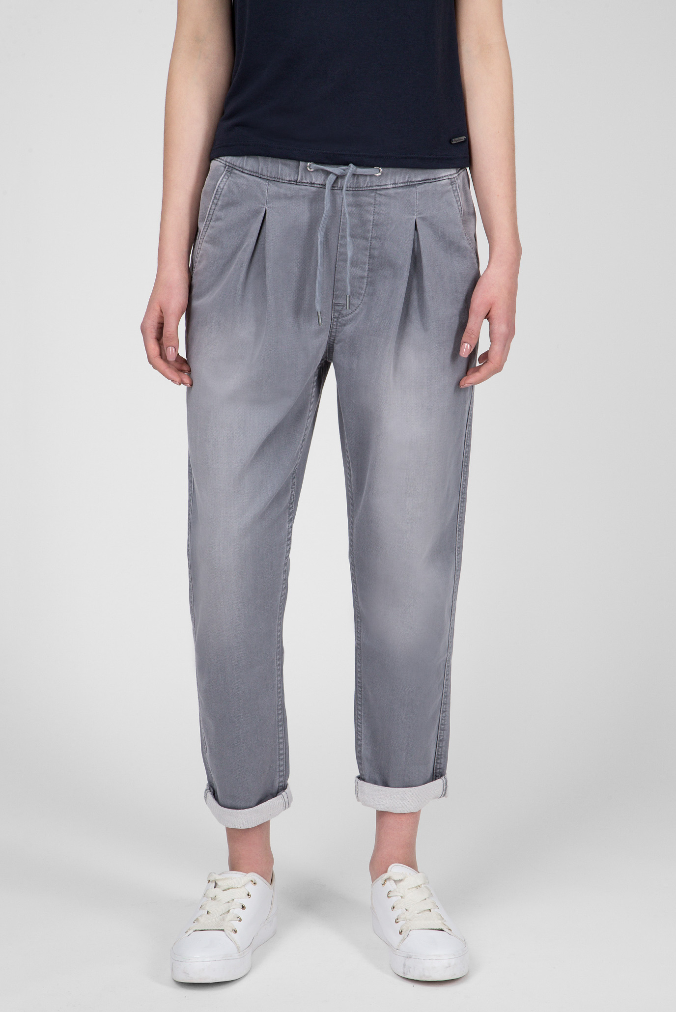 Женские светло-серые джинсы Donna Pepe Jeans