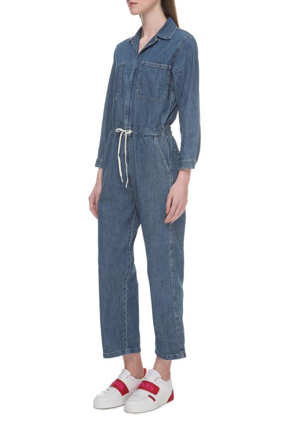 Женский синий джинсовый комбинезон