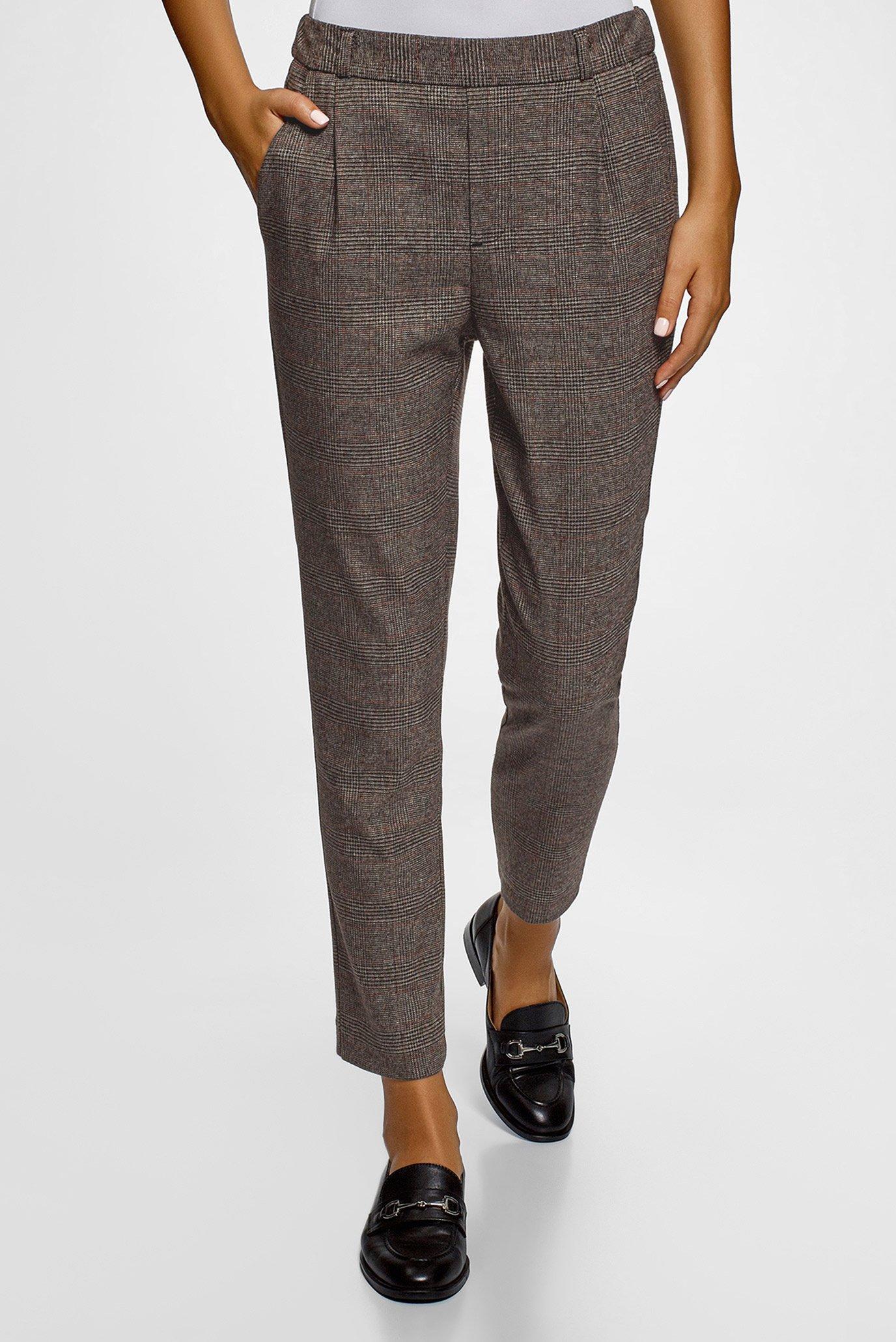 Женские коричневые брюки Oodji