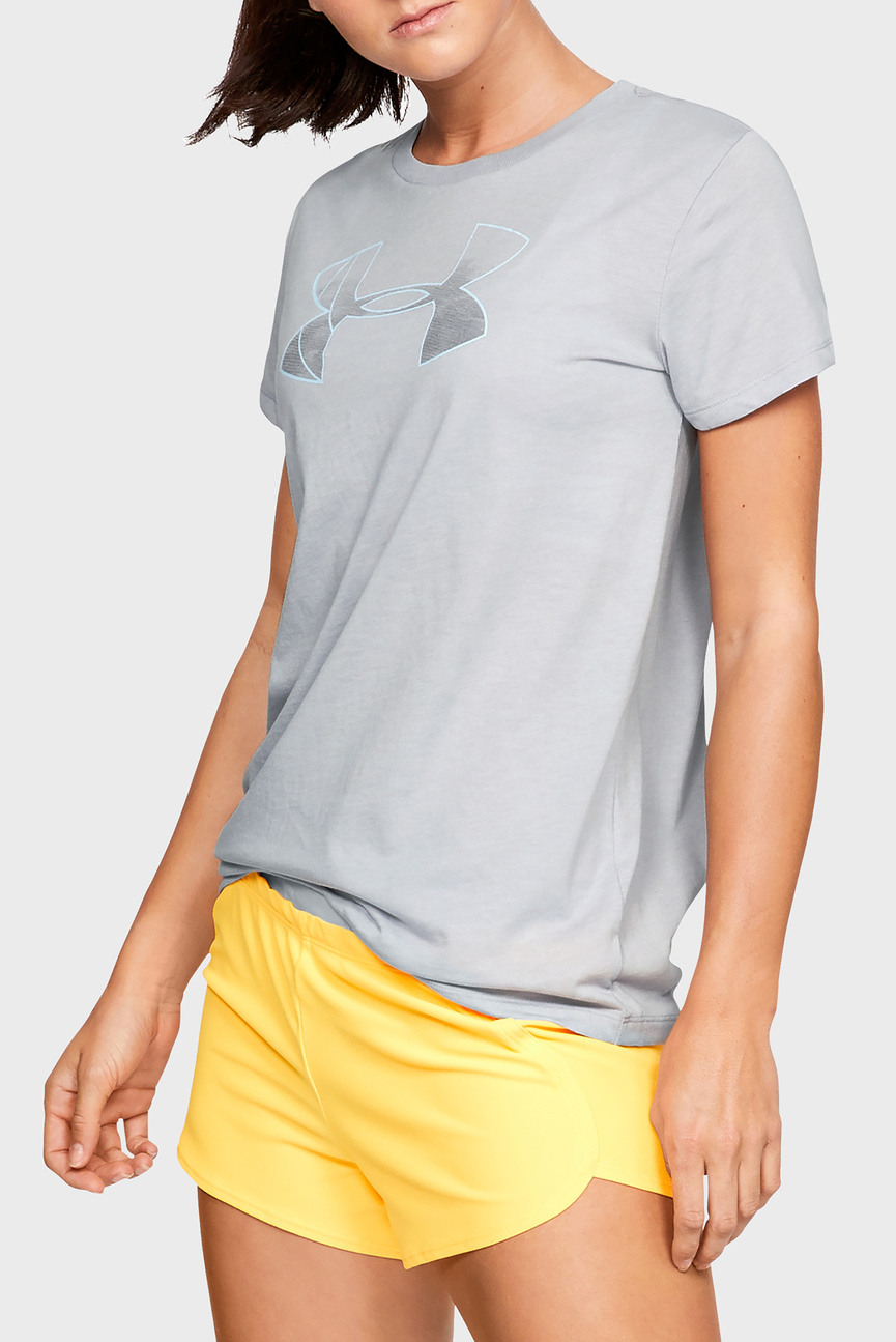 Женская серая футболка GRAPHIC BL CLASSIC CREW