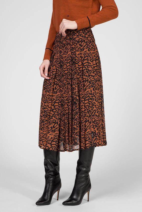 Женская леопардовая юбка
